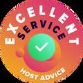 """Vi har tagit oss tiden att anonymt testa vardera webbhotells kundtjänst.  Utmärkelsen """"Utmärkt"""" tilldelas webbhotell som uppfyller HostAdvices höga krav vad gäller kundtjänst, vilket innebär att servicen var snabb, effektiv, insiktsfull och framförallt hjälpsam."""